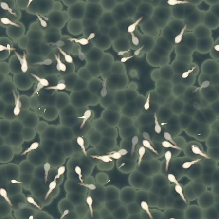 Seamless sperm cells background. 스톡 콘텐츠