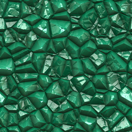 emerald stone: Seamless emerald stony surface background. Stock Photo