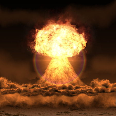 Powerful explosion nuclear bomb.