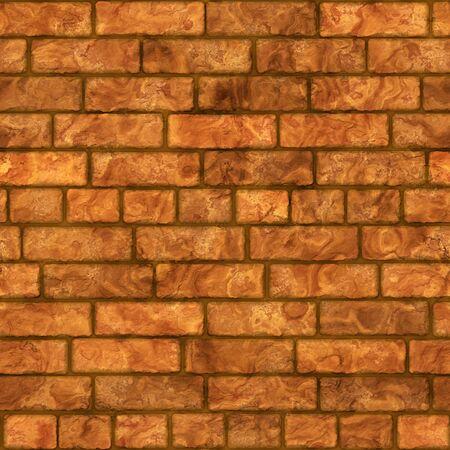 worn structure: Seamless brick wall background. Stock Photo
