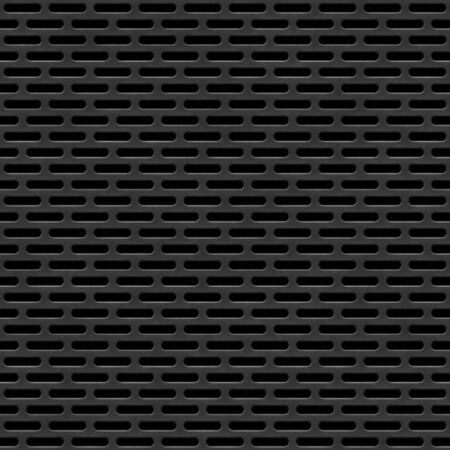 perforated: Seamless perforated black panel background. Stock Photo