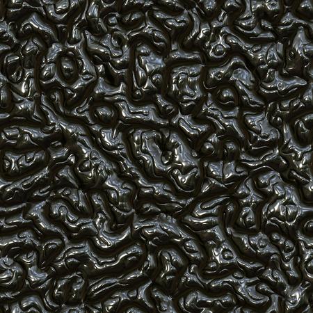 interweaving: Seamless interweaving black plastic surface. Stock Photo