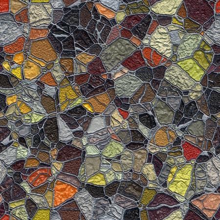 broken wall: Seamless abstract shaggy mosaic background.