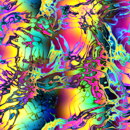 opalescent: Seamless psychedelic motley colorful background.