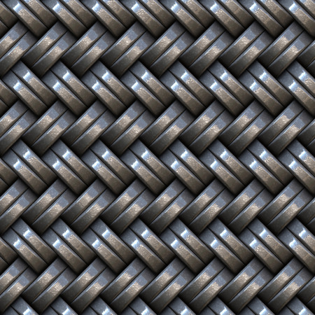 Seamless weaving iron panel.