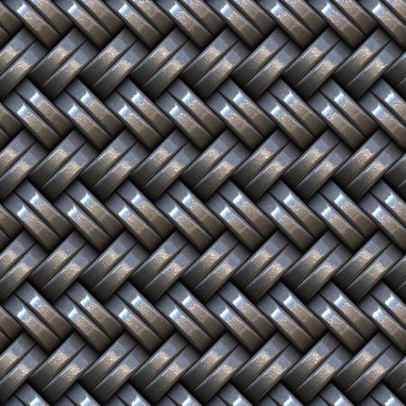 weaving: Seamless weaving iron panel.