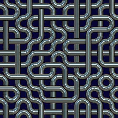 interweaving: Seamless interweaving metal surface.