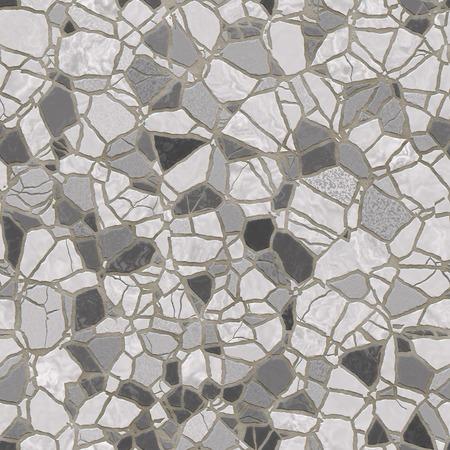 revetment: Seamless abstract grey mosaic revetment background. Stock Photo