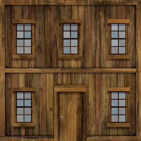 casa de campo: Fachada de madera de la casa.