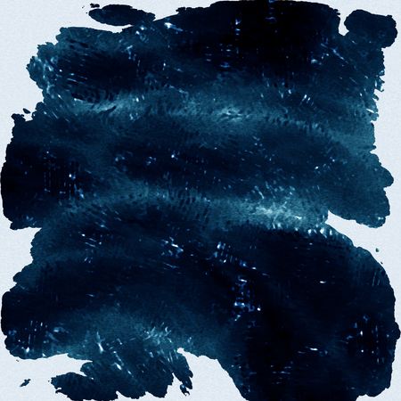 dark blue background: Watercolor texture background. Blue dark macro spot blotch texture isolated on a white background.