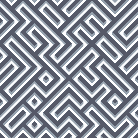 structures: Seamless labyrinth pattern background. Stock Photo