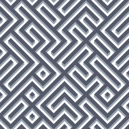 chaotic: Seamless labyrinth pattern background. Stock Photo
