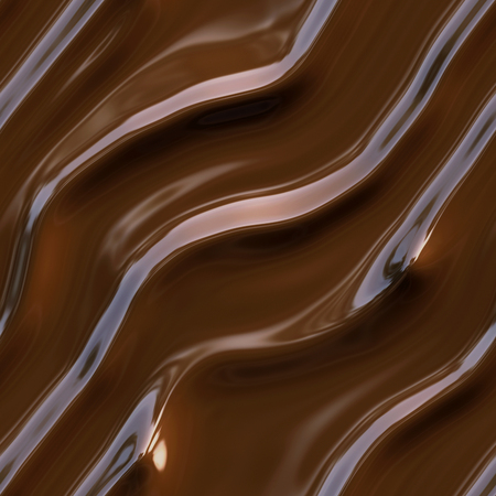 melting chocolate: Seamless texture chocolate waves closeup background.