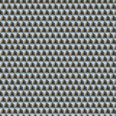 volume: Seamless pattern of volume of gray cubes. Stock Photo