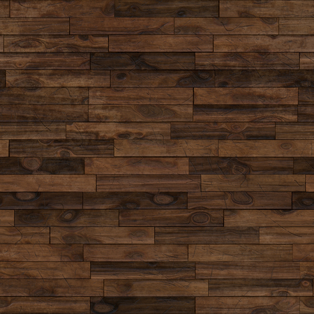 Seamless dark brown laminate parquet floor texture background.