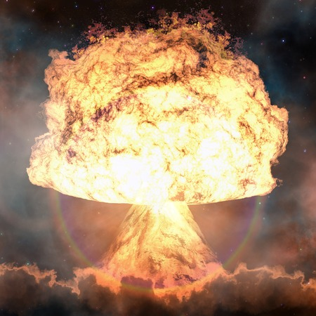 nuclear weapons: Nuclear explosion. Powerful explosion nuclear bomb.