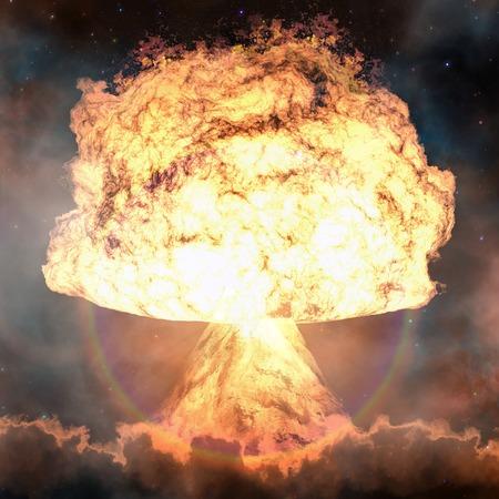 nuclear bomb: Nuclear explosion. Powerful explosion nuclear bomb.