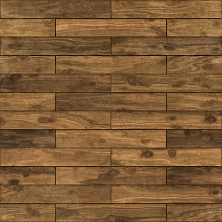Seamless dark walnut laminate flooring texture background.