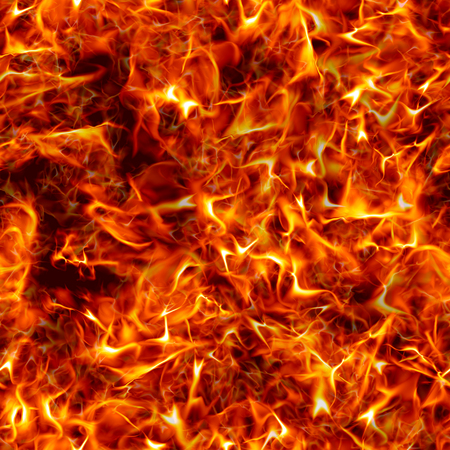 firestorm: Seamless texture of fire. Bright flames from the explosion.