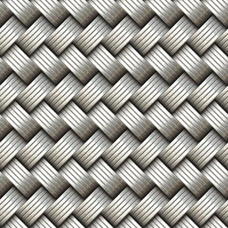 interweaving: Seamless decorative interweaving metallic surface. A high resolution. Stock Photo