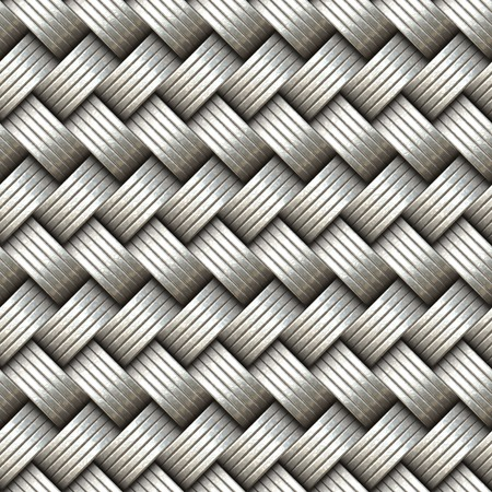 Seamless decorative interweaving metallic surface. A high resolution. Archivio Fotografico