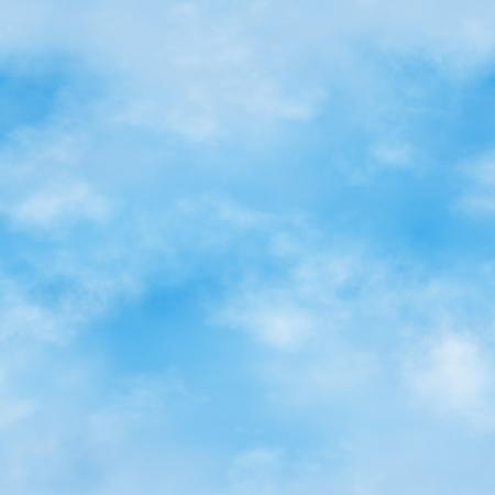 Naadloze blauwe lucht met wolken. Een hoge resolutie patroon achtergrond. Stockfoto