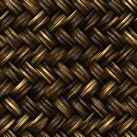 Seamless wooden wicker basket. Seamless wicker surface basket. Closeup.