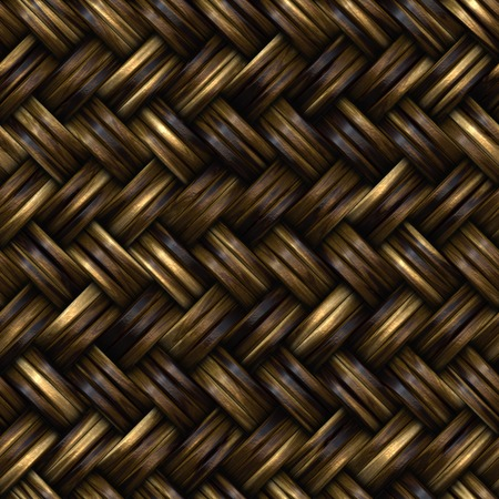woven: Seamless wooden wicker basket. Seamless wicker surface basket. Closeup.
