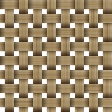 interweaving: Seamless wooden wicker lattice isolated on white background. Texture basket. A high resolution. Stock Photo