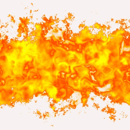 computergraphics: Seamless texture flame, fire on a white background. Free space for text. A high resolution.