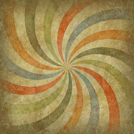 Grunge retro illustration. Vintage grunge background. Faded color spiral.