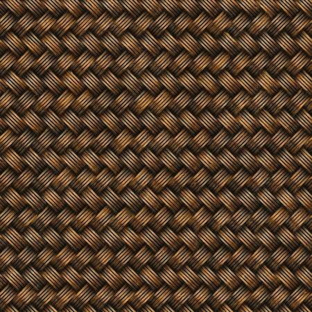 wicker: Seamless decorative wooden surface. Surface wicker basket. Stock Photo