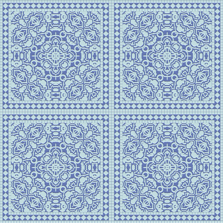 wallboard: Seamless blue tile with a matte pattern. A high resolution.