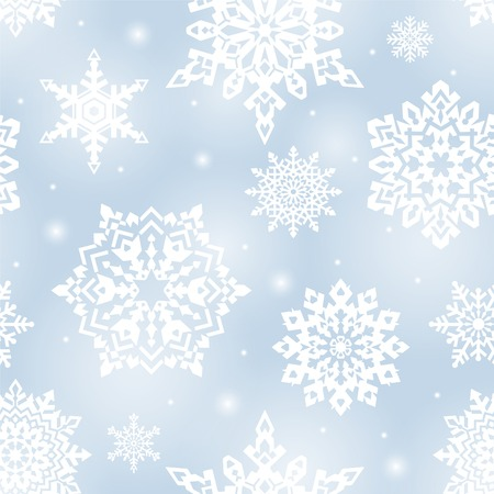 repeated: Seamless Christmas background. Winter ornament with snowflakes. Vector. vector illustration.