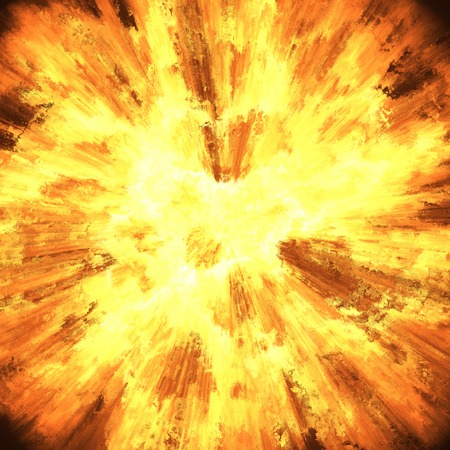 atomic explosion: Huge explosion closeup. A high resolution. Stock Photo
