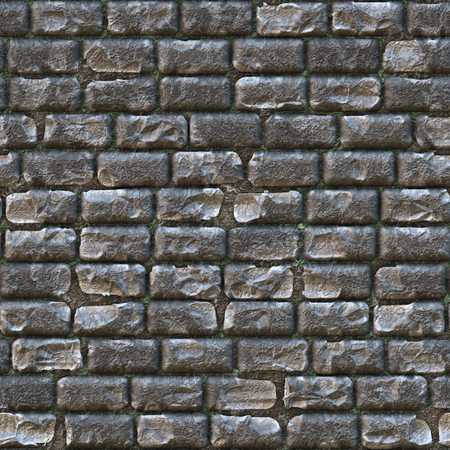 imitations: Seamless texture of dark gray brickwork.