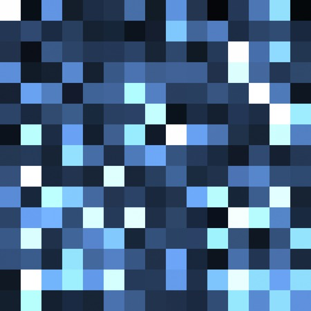 variegated: Seamless background of blue, white and black squares. Stock Photo