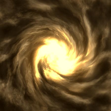 El ojo de un tornado cerca. huracán enorme. Alta resolución. Foto de archivo