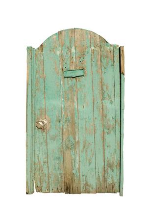 verjas: Puerta de madera vieja. pintura verde agrietada en la puerta. Una alta resolución.