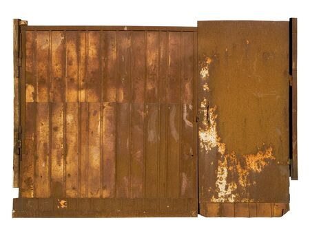 desolation: Old rusty gate. Corrosion of metal. A high resolution.