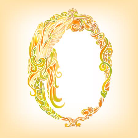 ovalo: marco oval adornado. Vector de la decoración de fondo.