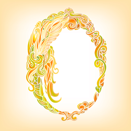yellowish: Ornate oval frame. Vector decor background. Illustration