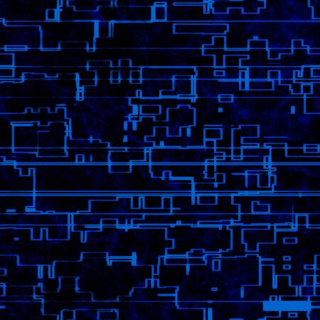 electronic scheme: Seamless electronic circuit dark blue background. A high resolution. Stock Photo