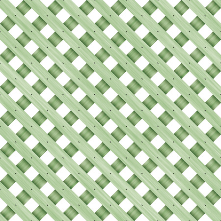 lattice: Seamless green wooden lattice on a white background.