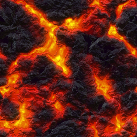 Seamless texture of molten lava. Hot magma background. A high resolution. Imagens - 53820326