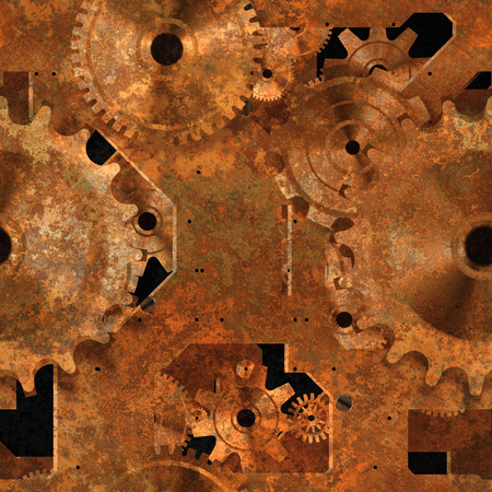 corrosion: Seamless rusty mechanical background.
