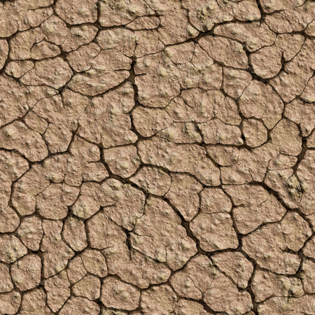Seamless texture cracked earth. Drought, ecological catastrophe. A high resolution. Imagens