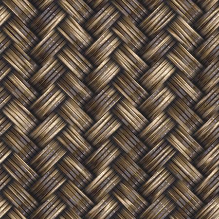シームレスな枝編み細工品バスケット テクスチャ背景。高解像度。 写真素材