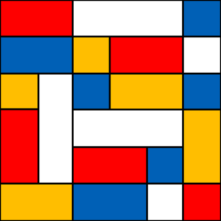 stained glass panel: Modern geometric pattern. Abstract mosaic. Vector.