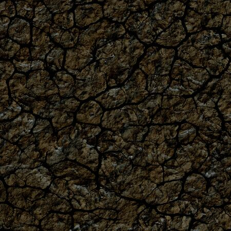 cracked earth: Seamless dark texture of cracked soil. A high resolution. Stock Photo